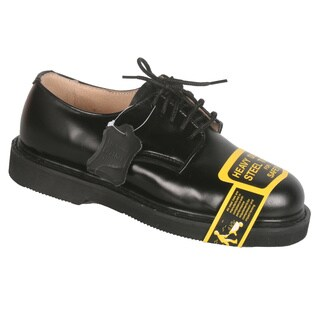 Rockman Men's Black Leather Lace up Oxford Steel Toe Work Shoes
