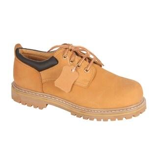Rockman Men's Nubuck Leather Lace-up Oxford Shoes