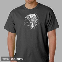 Los Angeles Pop Art Men's Native American Indian T-shirt