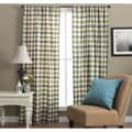 Plymouth Plaid 63-inch Woven Tailored Curtain Panels (Set of 2)