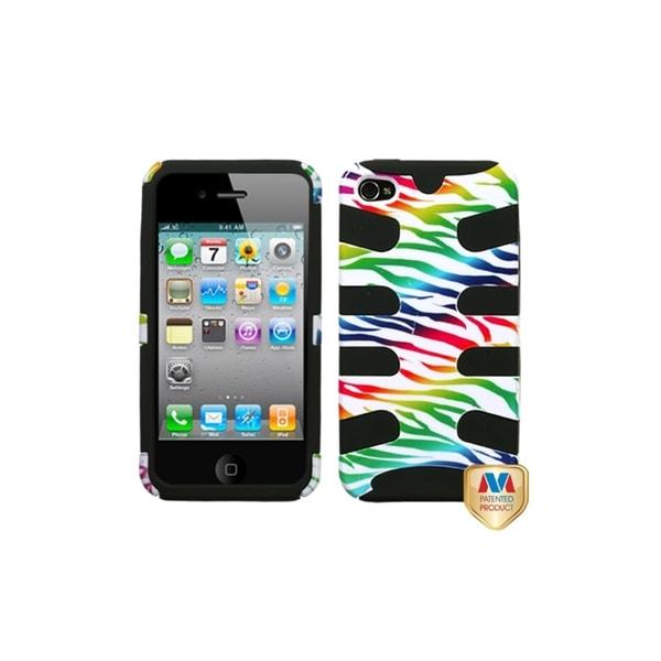 Insten Zebra Fishbone Protector Cover Apple iPhone 4/ 4S