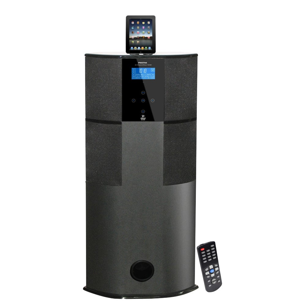 Pyle 600 Watt Digital 2.1 Channel Home Theater Tower with Docking Station for iPod/ iPhone/ iPad