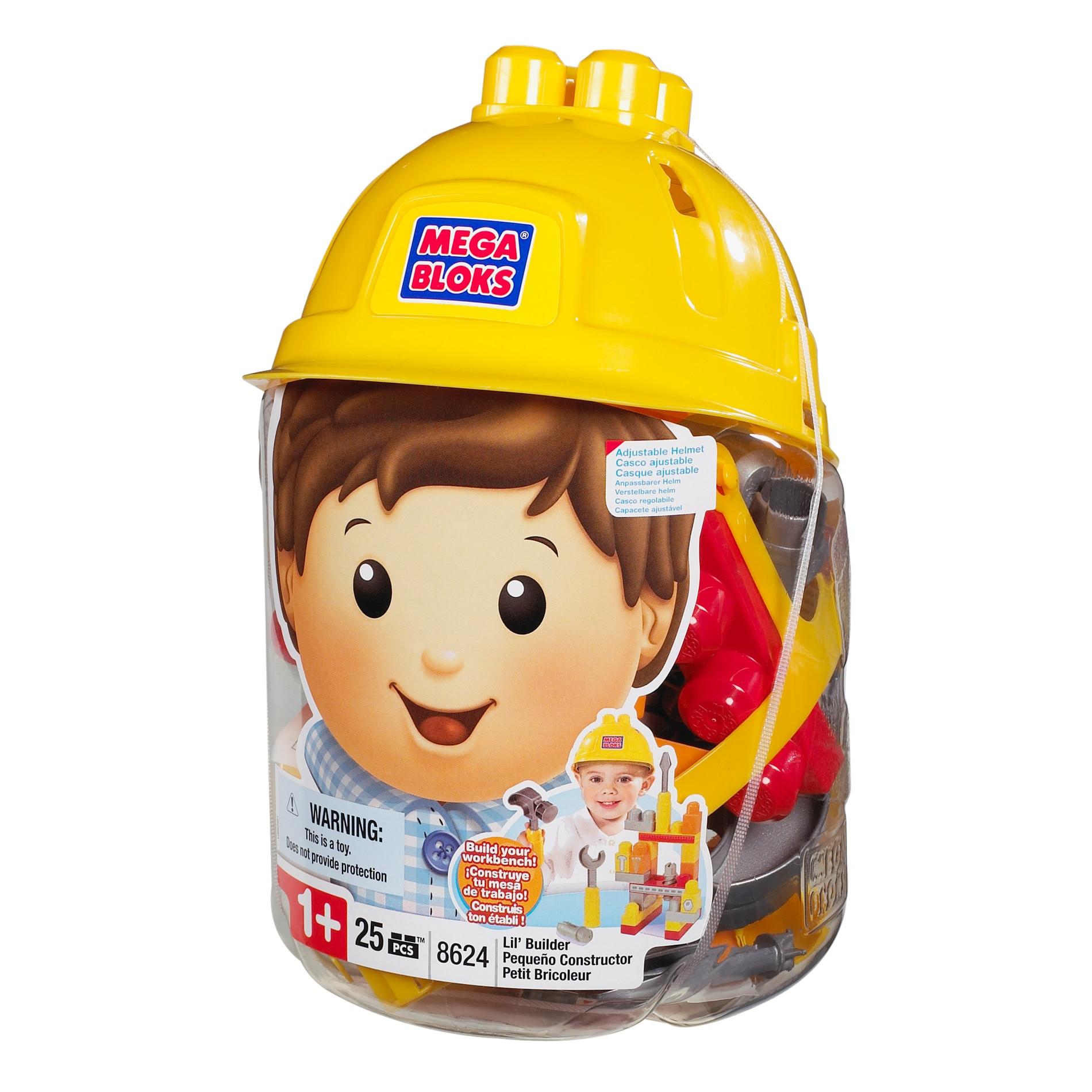 Mega Bloks Lil' Builder Hat Bucket Play Set