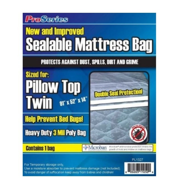 ProSeries Sealable Mattress Bag Twin, Pack of 6