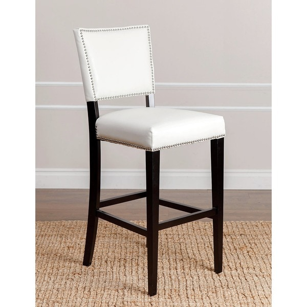 Abbyson Living Napa Ivory Leather Bar Stool 13958794