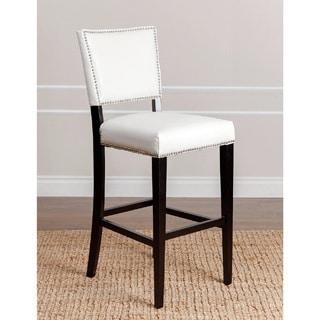 Abbyson Living Napa Ivory Bicast Leather Bar Stool