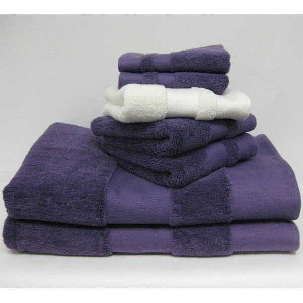 Solid Twill Border 6-piece Towel Set