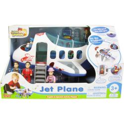 Happy Kid Toy Group Jet Plane English and Spanish Activity Set