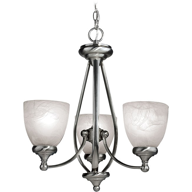 Woodbridge Lighting Kenshaw 3-light Satin Nickel Chandelier