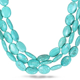 Miadora Turquoise Bead 3-strand Necklace