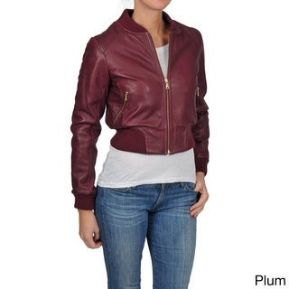 Knoles & Carter Women's Plus Size Perforated Bomber Jacket
