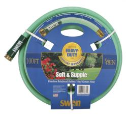 "Swan Soft Supple 5/8""x100' Reinf Rubber/vinyl Garden Hose"