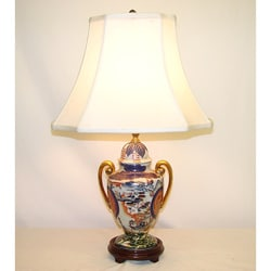 Imari Pagoda 1-light Porcelain Table Lamp