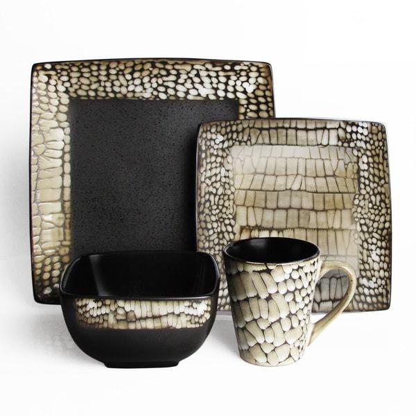 American Atelier Boa White 16-piece Dinnerware Set