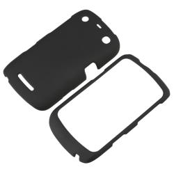 Black Snap-on Rubber Coated Case for BlackBerry Curve 9350/ 9360/ 9370