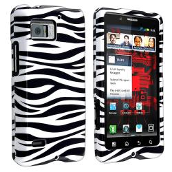 Black/ White Zebra Snap-on Case for Motorola Droid Bionic XT875