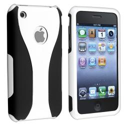 White/ Black Cup Shape Snap-on Case for Apple iPhone 3G/ 3GS