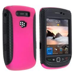 Black/ Hot Pink Hybrid Case for BlackBerry Torch 9800/ 9810
