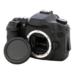 Black Plastic Body Cap and Lens Rear Cover Cap for Canon EOS