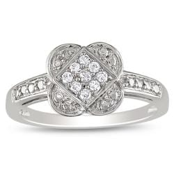 10k White Gold 1/10ct TDW Diamond Ring (G-H, I2-I3)
