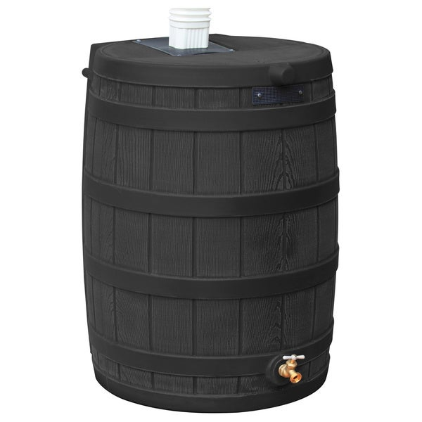 Sterling Rain Wizard 50-gallon Black Rain Barrel