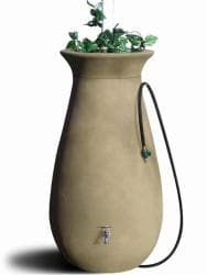 Algreen Sandalwood Cascata Rain Water Barrel 65 Gal