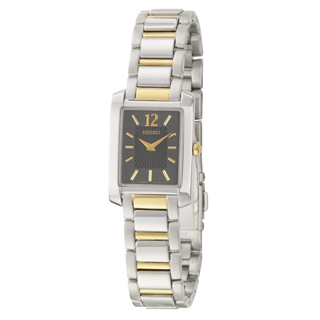 Seiko Women's 'Bracelet' Stainless and Yellow Goldplated Steel Quartz Water-resistant Watch
