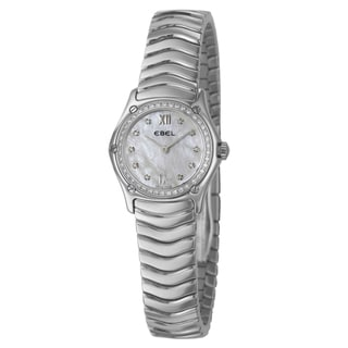 Ebel Women's 'Classic Wave' Stainless Steel 52 Diamond Quartz Watch