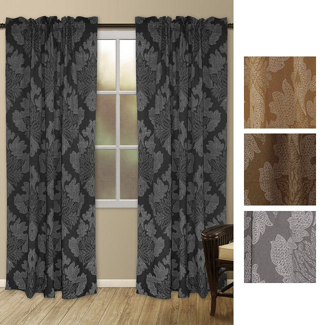 Henna Print 84-inch Curtain Panel Pair