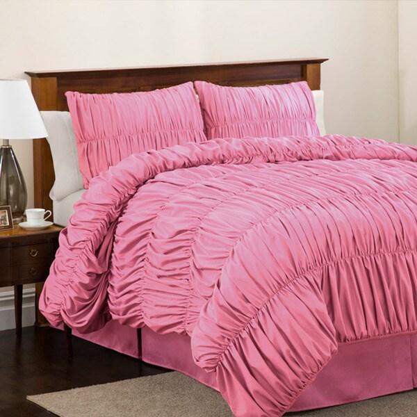 Lush Decor Pink Venetian Full-size 4-piece Comforter Set