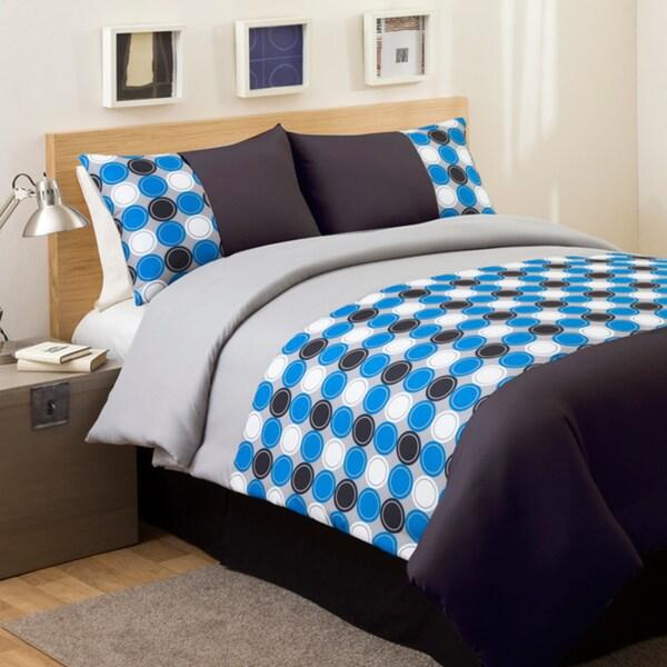 Lush Decor Teal/ Grey Mod Print 3-piece Twin-size Comforter Set