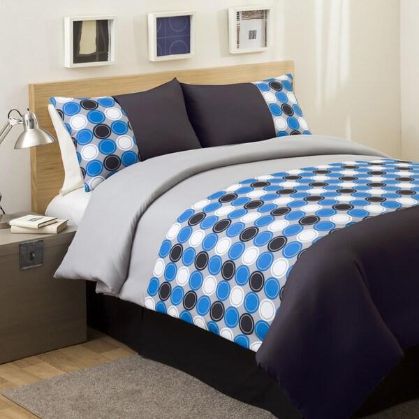Lush Decor Teal/ Grey Mod Print 4-piece Full-size Comforter Set