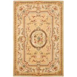 Safavieh Handmade Light Gold/ Beige Hand-spun Wool Rug (9'6 x 13'6)
