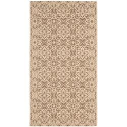Brown/ Cream Indoor Outdoor Rug (2'7 x 5')