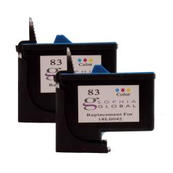 Lexmark 83 Color Ink Cartridges (Remanufactured) (Pack of 2)
