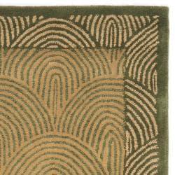 Safavieh Handmade New Zealand Sunrise Light Green Rug (2'3 x 10')