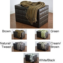 Rizzy Home High/ Low Weave Acrylic Throw
