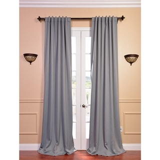 Polyester Grey Thermal Blackout 96-inch Curtain Panel Pair