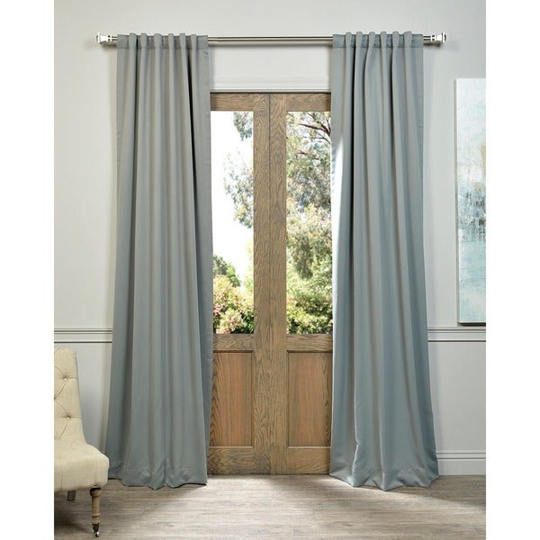 Exclusive Fabrics Gray Polyester Thermal Blackout Curtain Panel Pair