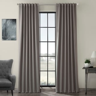 Gray Polyester Thermal Blackout Curtain Panel Pair