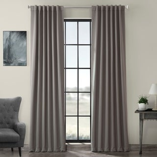 Gray Polyester Thermal Blackout 120-Inch Curtain Panel Pair