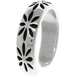 CGC Thick Starburst Sterling Silver Adjustable Toe Ring