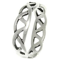 CGC Celtic Triangle Knot Sterling Silver Adjustable Toe Ring