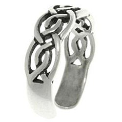 CGC Celtic Round Knot Sterling Silver Adjustable Toe Ring