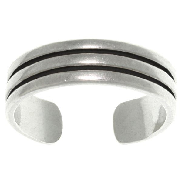 CGC Triple Row Sterling Silver Adjustable Toe Ring