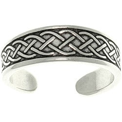 CGC Celtic Rope Sterling Silver Adjustable Toe Ring