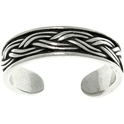 CGC Weaved Sterling Silver Adjustable Toe Ring