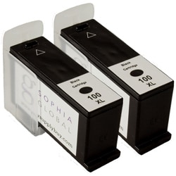 Lexmark 100XL Black Ink Cartridge (Remanufactured) (Pack of 2)