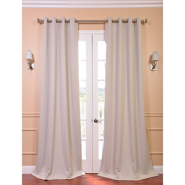 Beige Thermal Blackout 108-inch Curtain Panel Pair