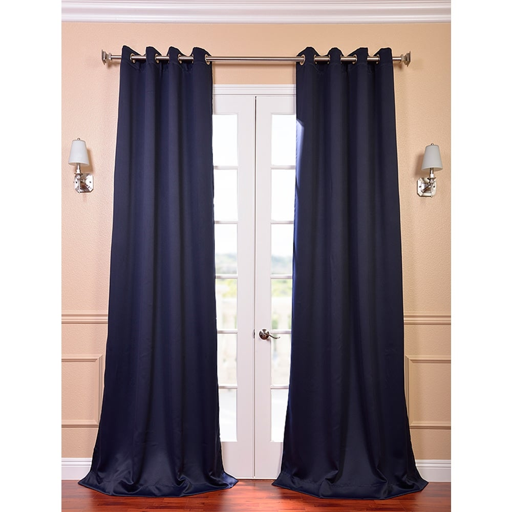 Eclipse Blue Thermal Blackout 108-inch Curtain 8-Grommet Panel Pair ...